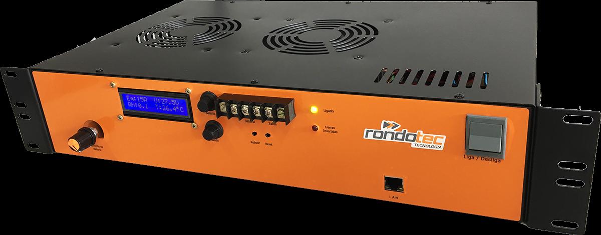 Retificador Rack 19 -48V 30A SNMP com Seletor de Corrente